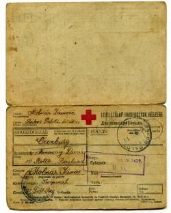 1917 I. VH Válaszos Hadifogoly levelezőlap